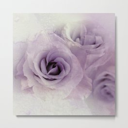 wet purple rose Metal Print