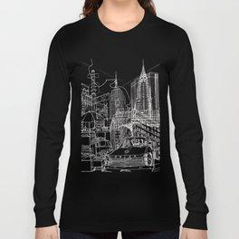 New York B&W (Dark T-shirt Version) Long Sleeve T-shirt