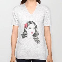 Lana's hair Unisex V-Neck