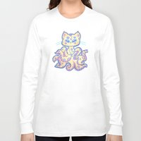 cthulu Long Sleeve T-shirts featuring Catopus by adorkablyfeline