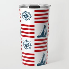 Nautical pattern Travel Mug