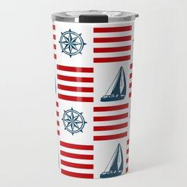 Nautical pattern Travel Mug