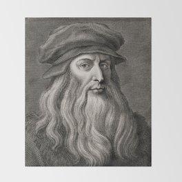Leonardo da Vinci Throw Blanket