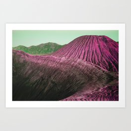 VOLCANO VOYAGE Art Print