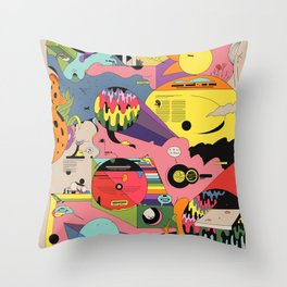 Climate Jazz Throw Pillow