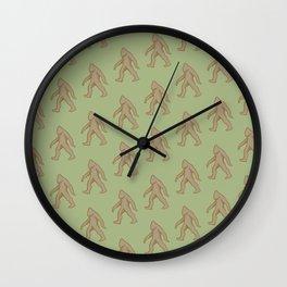 Brown/Green Bigfoot Wall Clock