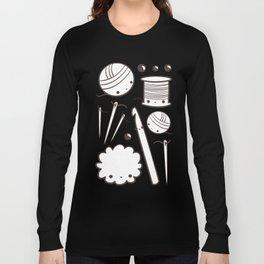 crochet cute - kawaii craft supplies Long Sleeve T-shirt