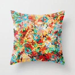 Flower Fight Throw Pillow