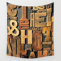 letters Wall Tapestries featuring Letters by BONB