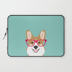 Teagan Glasses Corgi cute puppy welsh corgi gifts for dog lovers and pet owners love corgi puppies Laptop Sleeve