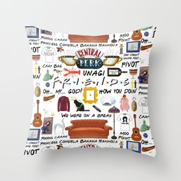 Friends collage Throw Pillow
