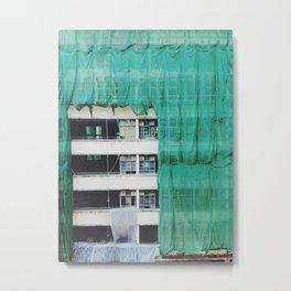 Bamboo Scaffolding Hong Kong Metal Print