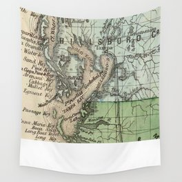 Vintage Map of Tampa Florida (1870) Wall Tapestry