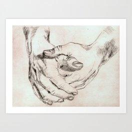 Study Hands Art Print