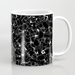 Chess Pattern BLACK Coffee Mug