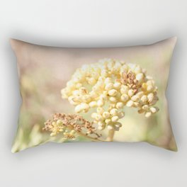 sand succulent flower in autumn Rectangular Pillow