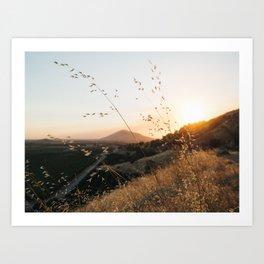 Fresno Sunset Art Print