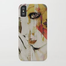 Pages Abstract Portrait iPhone X Slim Case