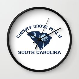 Cherry Grove Beach - South Carolina. Wall Clock