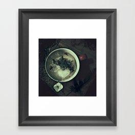 Tea & Ravens Framed Art Print