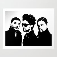 30 seconds to mars Art Prints featuring 30 Seconds to Mars Vector by Emma Porter