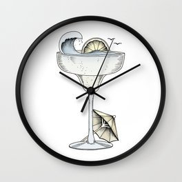 Summer Cocktail Wall Clock