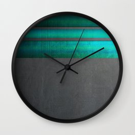 """""""Architecture, cement texture & colorful II"""" Wall Clock"""