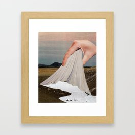 The Skin That Forms On The Surface Framed Art Print