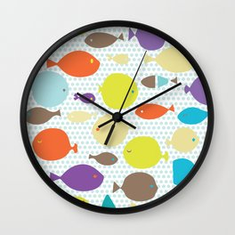 Fish dècor multicolors Wall Clock