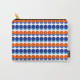 Vibrant Blue and Orange Dots Carry-All Pouch
