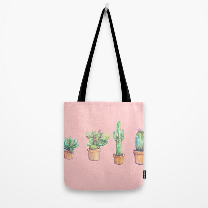 pinky 4 cactus Tote Bag