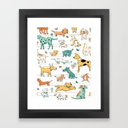 Dogs Dogs Dogs Framed Art Print