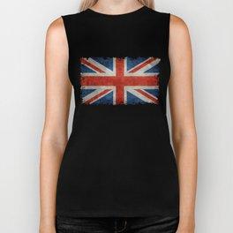 "UK Union Jack flag ""Bright"" retro grungy style Biker Tank"