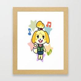 Isabelle of Animal Crossing Framed Art Print
