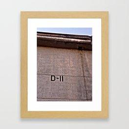 D-11 Framed Art Print
