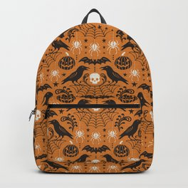 All Hallows' Eve - Orange Black Halloween Backpack