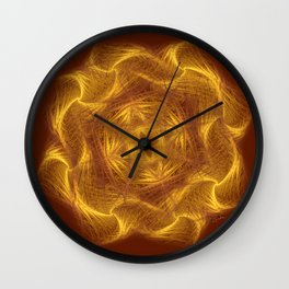 Spiritual art - Wheel of dharma Wall Clock