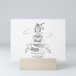 Yogi in lotus position. Mini Art Print