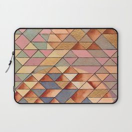 Triangles Circles Golden Sun Laptop Sleeve