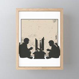 Military Gamers Framed Mini Art Print