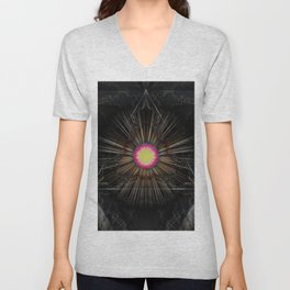 Triangle of light. Unisex V-Neck