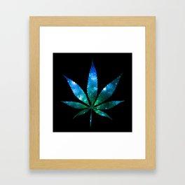 Weed : High Times Blue Green Galaxy Framed Art Print