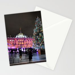 Ice Skating at Somerset House in London Stationery Cards