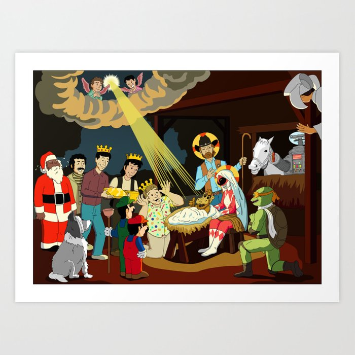 Christmastime in the Sitcom Art Print