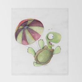 Falling Tortoise Throw Blanket
