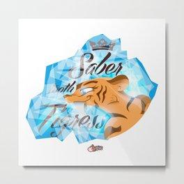 Saber Tooth Tigress  Metal Print