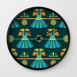 Columbian Bird Pattern Wall Clock