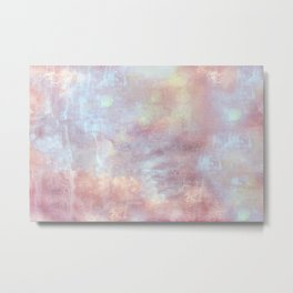 Ethereal Dreamy Watercolor Clouds Pink Blue Nursery Decor Metal Print