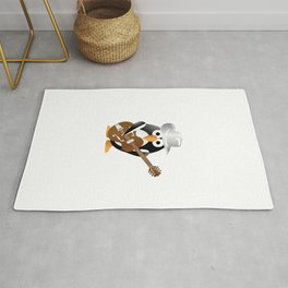 Funny penguin with guitar Rug