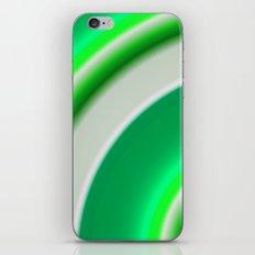 green and white iPhone & iPod Skin
